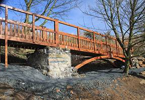 Large Wooden Completed Bridge